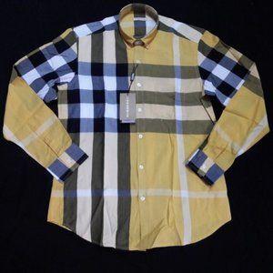 BURBERRY BRIT men yellow casual shirt